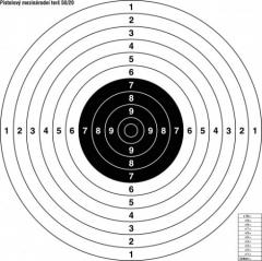 Terč pistolový mezinárodní s kruhy