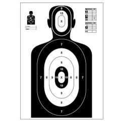 Terč pistolový černá postava