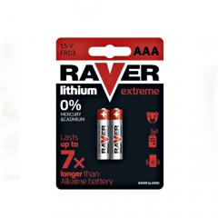Baterie Lithiová RAVER FR6 - microtužková ( AAA ) 2ks