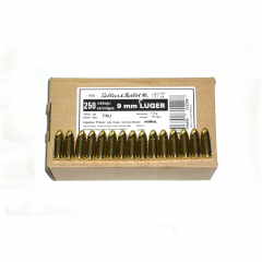 Náboj 9mm Luger FMJ 7,5g - 250ks