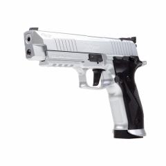 Vzduchová pistole Sig Sauer X-FIVE Silver Blow Back  4,5mm diabolo