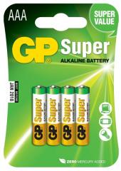 baterie alkalická GP  AAA/LR03 - micro tužková 4ks