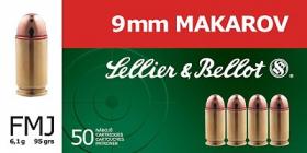 náboj 9mm MAKAROV FMJ 6.1g