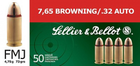 náboj 7.65mm BROWNING /.32 AUTO