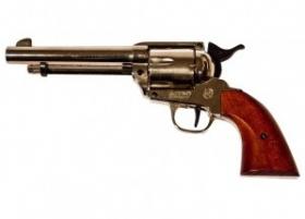 Plynový revolver  BRUNI 6RD Peacemaker nikl