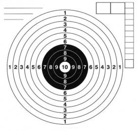 Terč vzduchovkový 140x150mm