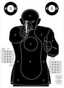 Terč pistolový policejní parkur FBI