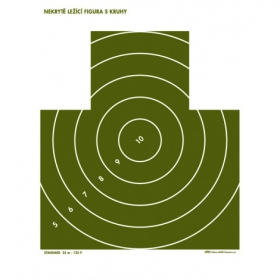 Terč pistolový nekrytě ležící postava