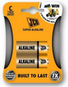 baterie malé mono-alkalická C/LR14 - JCB Super 2ks