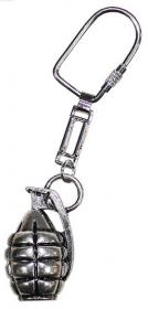 přívěšek na klíče, ruční granát, stříbrné provedení