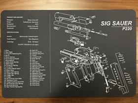 Servisní podložka pro zbraně - SIG SAUER P220