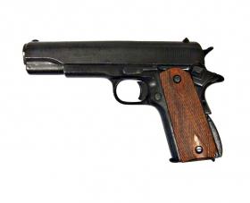 Replika pistole Colt 45 Goverment 1911 dřevěné pažbičky