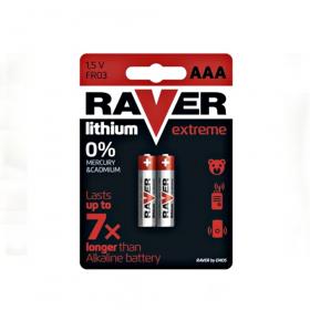 Baterie Lithiová RAVER FR6 - microtužková ( AAA )