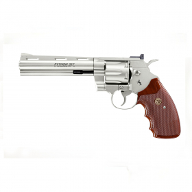 Vzduchovkový revolver Colt Python 6 nikl
