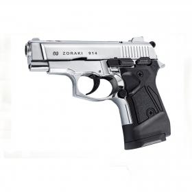 Plynová pistole Atak Zoraki 914 AUTO lesklý chrom cal.9mm