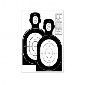 Terč pistolový černá dvojpostava