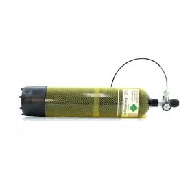 Potápěčská láhev s manometrem a hadicí - 7 litr.