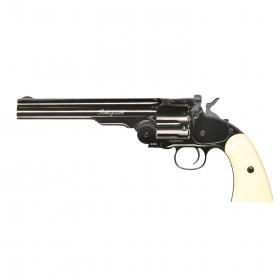 """Vzduchovkový revolver Schofield 6"""" šedá - 4,5mm"""