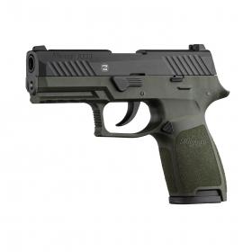Plynová pistole GSG Sig Sauer P320 černo/zelená cal.9mm P.A.